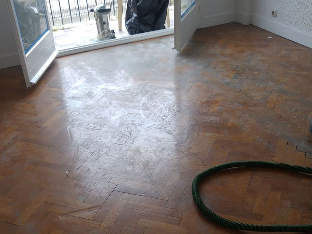rénovation parquet-avant